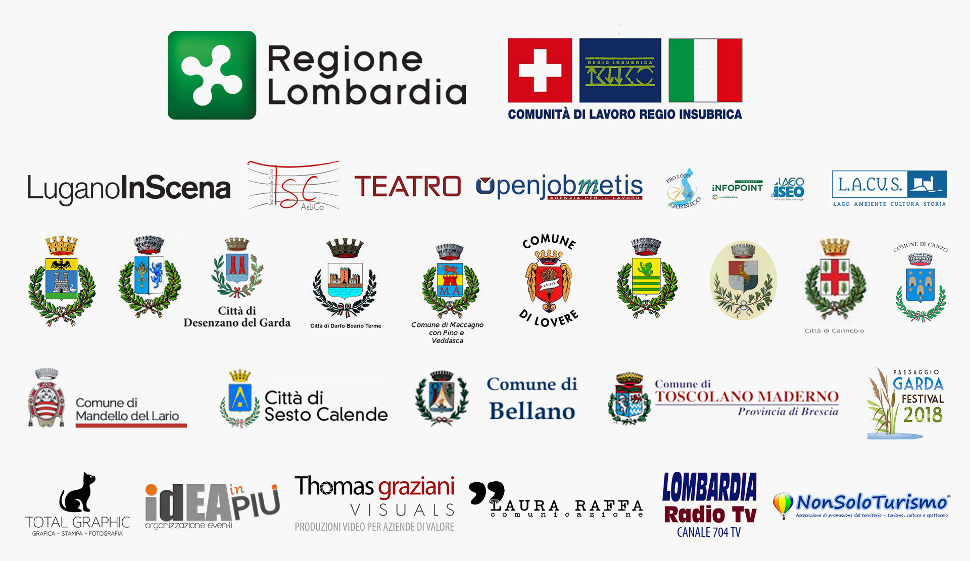 Sponsor e partner - Festival dei Laghi Lombardi