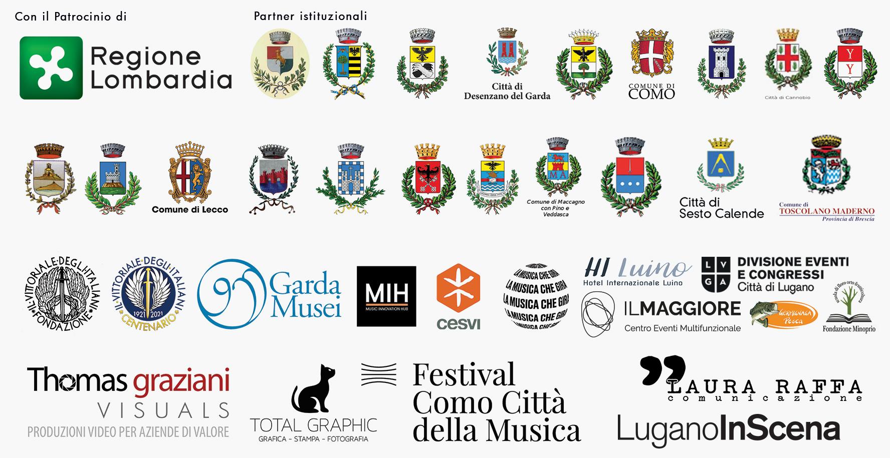 Festival dei laghi Lombardi 2021 - Sponsor e partner